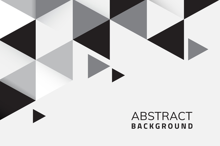 Abstract black and white geometric background vector Ilustração