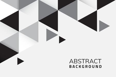 Abstrakter schwarzer und weißer geometrischer Hintergrundvektor Vektorgrafik