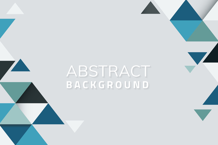 Abstract blue and green geometric background vector Ilustração