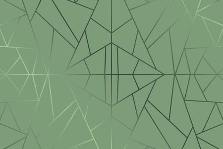 Grüner abstrakter geometrischer Hintergrundvektor