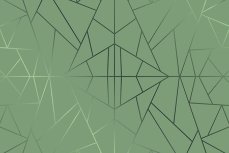Vector de fondo geométrico abstracto verde