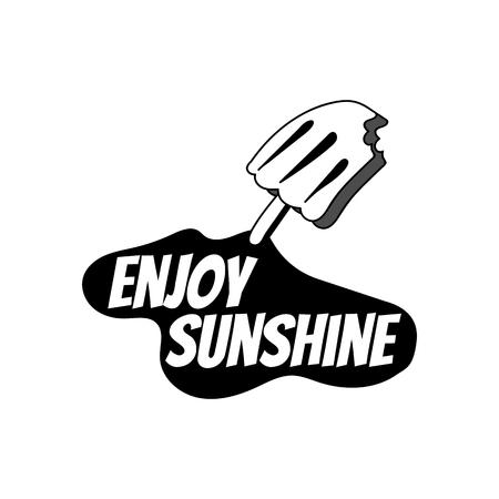 Enjoy sunshine with a ice cream vector Illustration