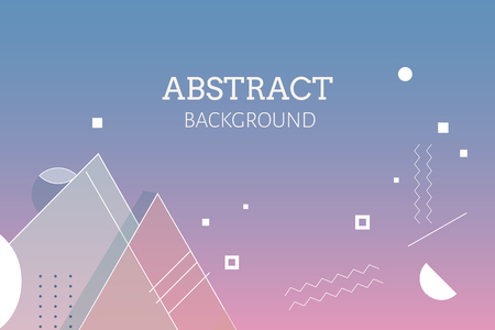 Gradient geometric abstract background vector Illustration
