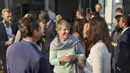 Diverse business people in a dinner party Reklamní fotografie