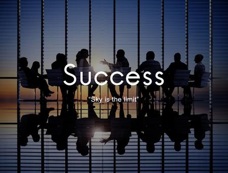 Concepto de logro de logro de desarrollo de mejora del éxito