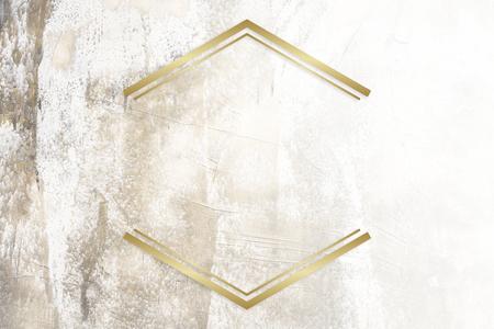 Insignia enmarcada dorada sobre una textura grunge
