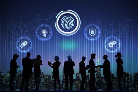 Business data protection security system Foto de archivo - 119987620