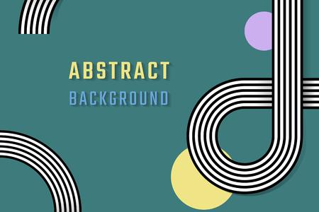 Retro green abstract background design vector