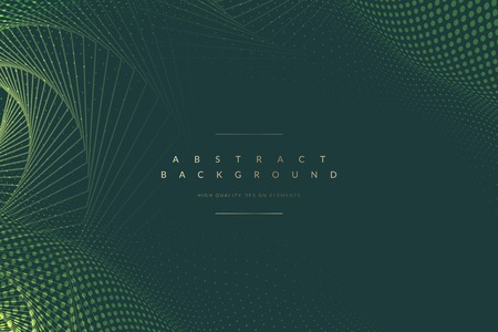 Abstract geometric patterned green background vector