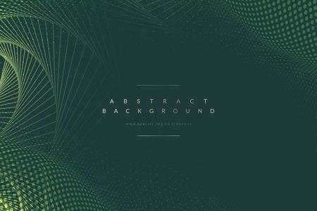 Vecteur de fond vert à motifs géométriques abstraits