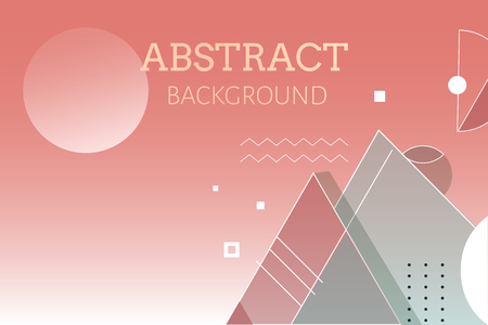 Red geometric abstract background vector 向量圖像