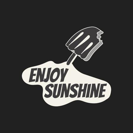 Enjoy sunshine with a ice cream vector Vector Illustration