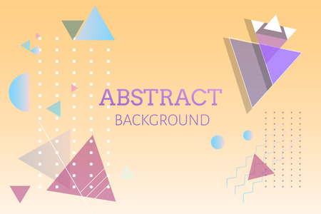 Colorful geometric abstract background vector 向量圖像