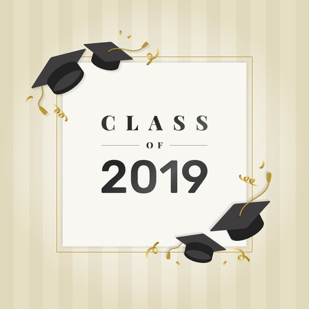 Graduation class of 2019 vector Illustration