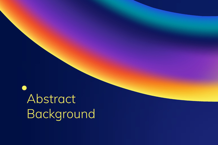Colorful wave abstract background vector