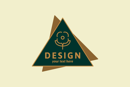 Design badge on a yellow background vector