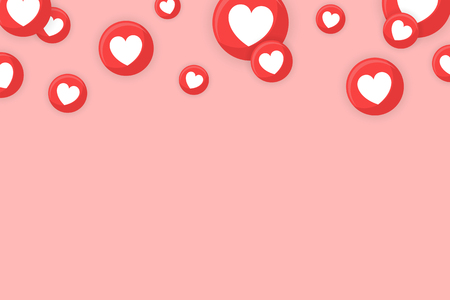 Heart icons themed border background vector Ilustração