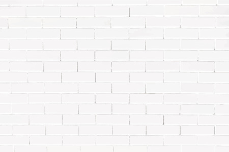 White brick wall textured background vector Ilustrace