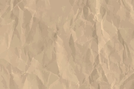 Brown crumpled paper textured background vector