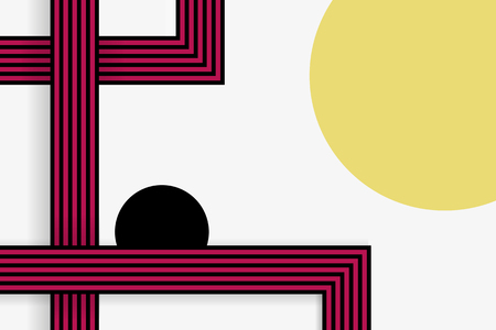 Retro white abstract background design vector
