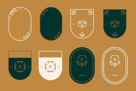 Geometric shaped badge collection vector Standard-Bild - 120459029
