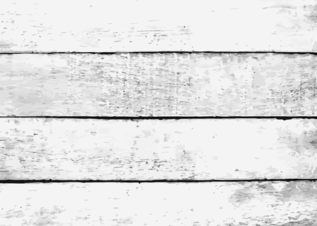 Rustic white wooden textured background vector Illustration