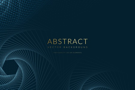 Abstract geometric patterned blue background vector Vektorové ilustrace