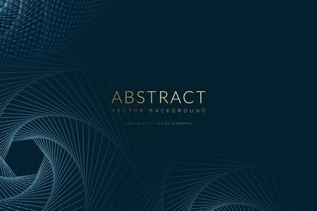 Vecteur de fond bleu à motifs géométriques abstraits Vecteurs
