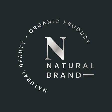 Natural brand logo badge vector 版權商用圖片 - 120459062