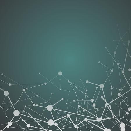Grüne neuronale Textur abstrakter Vektor