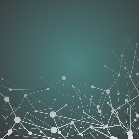 Vettore astratto di struttura neurale verde