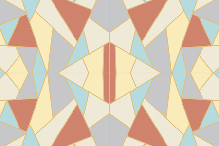 Abstract geometric mosaic background vector Banque d'images - 123969236