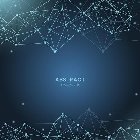 Blue neural texture abstract vector Archivio Fotografico - 123969253