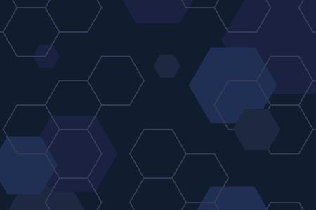 Blue hexagon geometric pattern background vector Ilustrace
