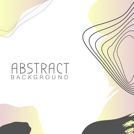 Abstract topographic patterned background vector  イラスト・ベクター素材