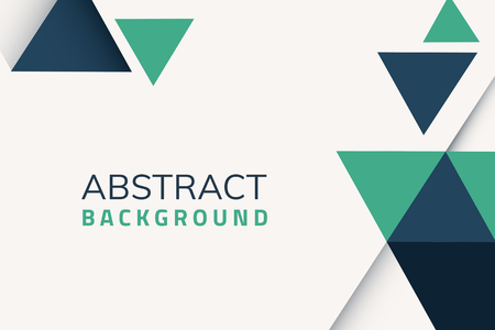 Abstract blue and green geometric background vector Stock Illustratie