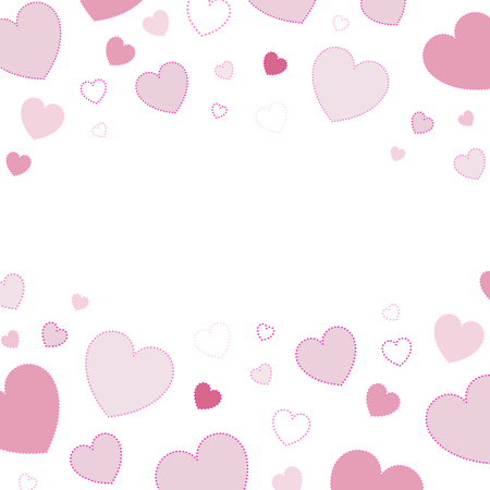 Pink hearts background design vector  イラスト・ベクター素材