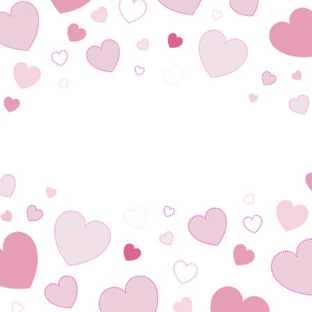 Pink hearts background design vector Illustration