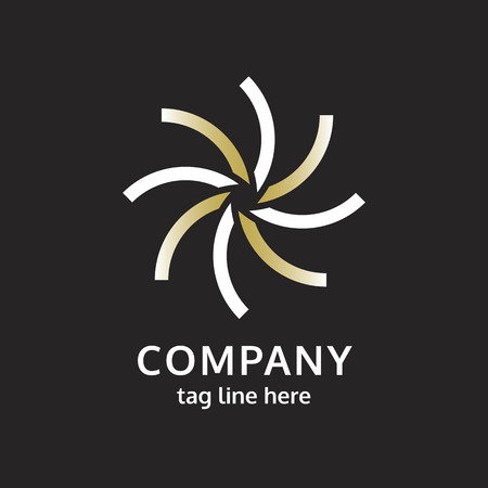 Modern company logo design on black vector 向量圖像