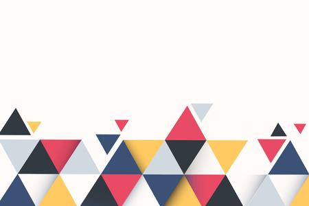 Vecteur de fond géométrique abstrait multicolore