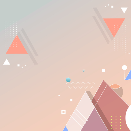 Orange geometric abstract background vector Illustration