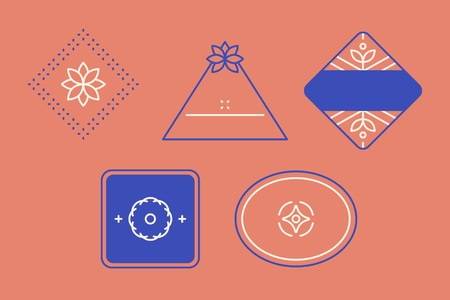 Geometric shaped badge collection vector Ilustrace