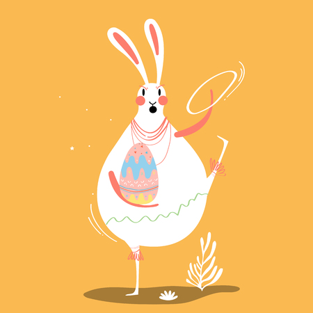 Easter celebration card vector