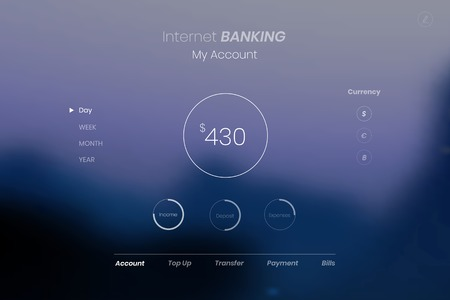 Internet banking financial account vector