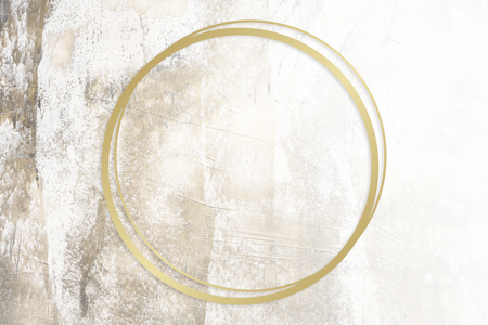 Golden framed circle on a grunge texture