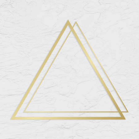 Golden framed triangle on a wall texture