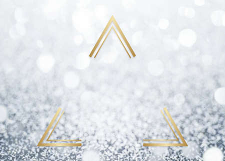 Golden framed triangle on a glitter texture Stock Photo