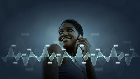 Black woman talking on the phone