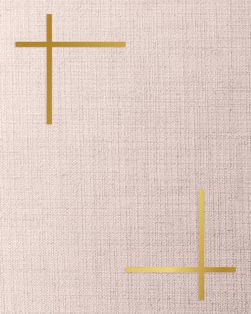 Gold frame on a peach fabric background Фото со стока
