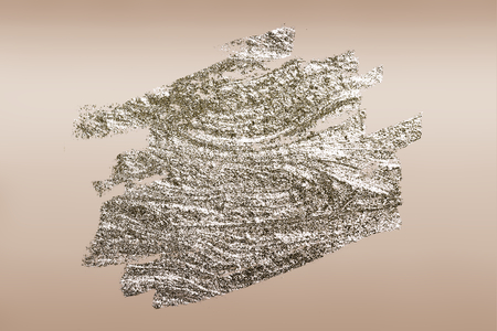 Gold brush stroked textured background